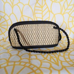 Handbags - Small Wicker purse with black details